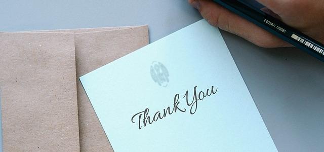 słowa wdzięczności