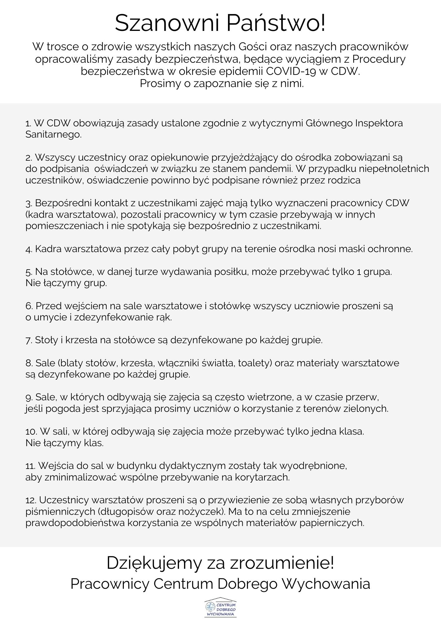 zasady dla nauczycieli